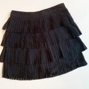 Ted Baker tiered ruffle raw hem skirt